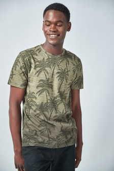 Palm Print Dip Dye T-Shirt