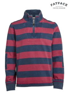 FatFace Red Airlie Stripe Sweat