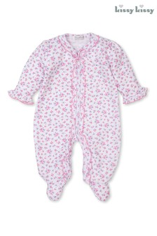 Kissy Kissy Pink Castle Couture Floral Sleepsuit