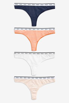 Cotton Rich Logo Knickers Four Pack