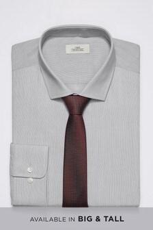 Shirt With Textured Tie Set