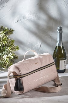 Blush Faux Croc Prosecco Bag