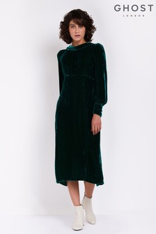 Ghost London Green Sierra Dress
