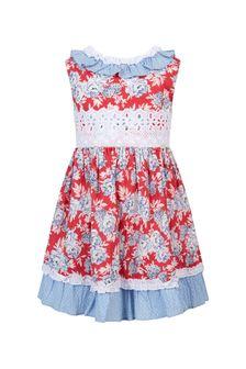 Miranda Girls Red Cotton Dress