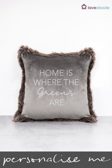 Personalised Home Is Where Cushion by Loveabode