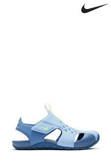 Nike Blue Sunray Protect Junior Sandals
