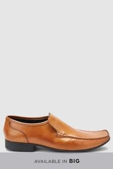 Туфли без шнурков с декоративным швом