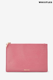 Whistles Shiny Lizard Small Clutch