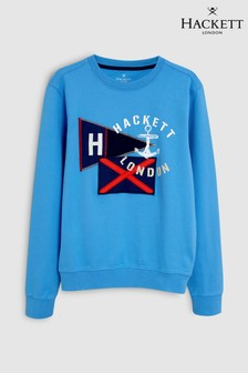 Hackett Kids Blue Flag Sweat