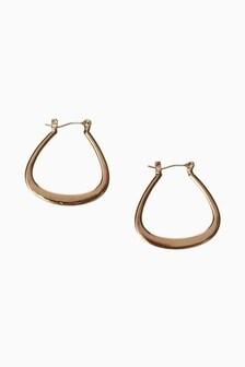 Triangle Hoop Earrings