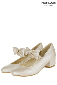 Monsoon Gold Alba Bow Strap Charleston Shoe