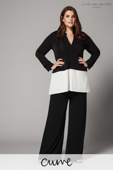 Live Unlimited Black French Crepe Trouser