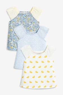 Ditsy Bunny T-Shirts Three Pack (0mths-2yrs)