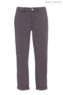 Mint Velvet Grey Relaxed Fit Casual Chino