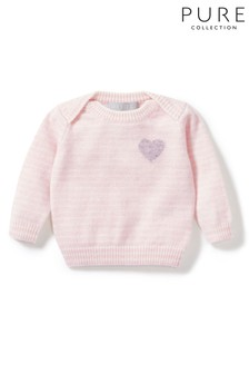 Pure Collection Pink Cashmere Baby Sweater