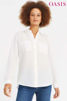Oasis White Cotton Shirt