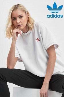 Camiseta blanca Valentines de adidas Originals