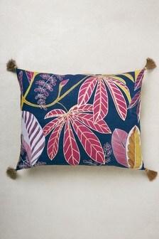 Embellished Deco Floral Cushion