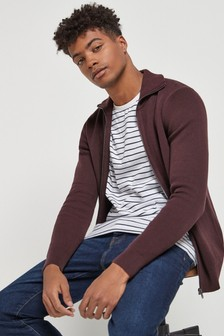 High Neck Zip Through Jumper