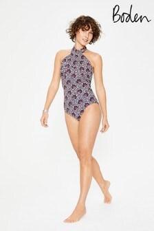 Boden White Crete Swimsuit
