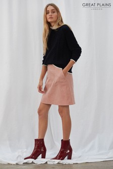 Great Plains Pink Chunky Cord Mini Skirt