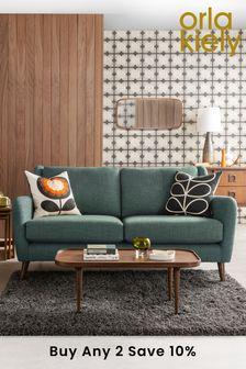 Orla Kiely Fern Small Sofa with Walnut Feet