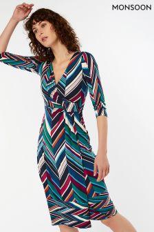 Monsoon Blue Arabella Print Dress
