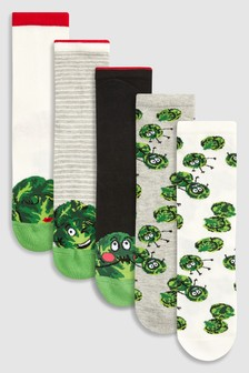 Christmas Sprout Socks Five Pack