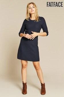 FatFace Blue Emma Knit Dress
