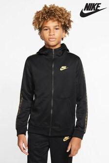 Толстовка на молнии с капюшоном и отделкой тесьмой Nike Repeat