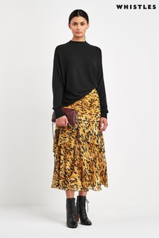Whistles Yellow/Black Skirt