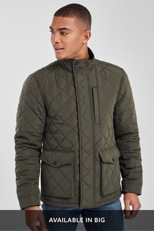 Shower Resistant Diamond Quilt Jacket