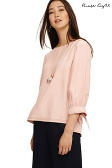 Phase Eight Pink Raine Cuff Blouse