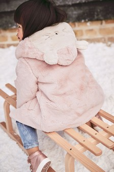 Faux Fur Character Hooded Jacket (12mths-7yrs)