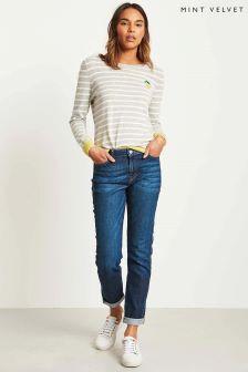 Mint Velvet Blue Roseville Slim Boyfriend Jeans