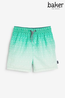 Baker by Ted Baker Boys Green Ombre Swim Shorts