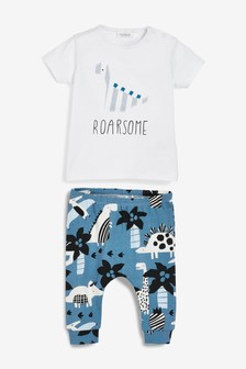 Dinosaur T-Shirt And Leggings Two Piece Set (0mths-2yrs)