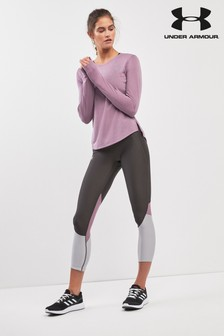 Under Armour Grey Fly Crop Tight