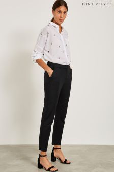 Pantalon taille haute Mint Velvet noir