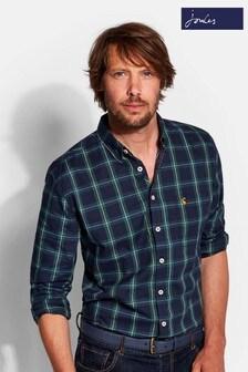 Joules Wilbe Kariertes Hemd mit langen Ärmeln im Classic-Fit, grün