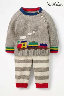Boden Grey Colourful Knitted Play Set