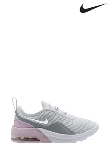 Nike Grey/Pink Air Max Motion Junior Trainers