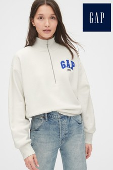 Gap Grey Half Zip Jumper