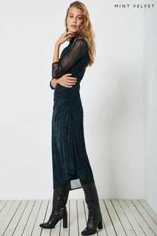 Mint Velvet Lyra Star Print Midi Dress