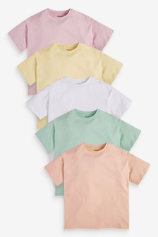 5 Pack Muted T-Shirts (3-16yrs)