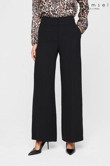 Damsel In A Dress Black Lydia City Wide Leg Suit Trousers