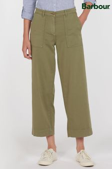 Barbour® Coastal Cropped Wide Leg Stretch Cabin Trousers