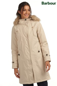 Barbour® Tartan Beige Waterproof Insulated Braan Parka Coat