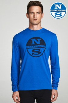 North Sails Royal Long Sleeve Graphic T-Shirt