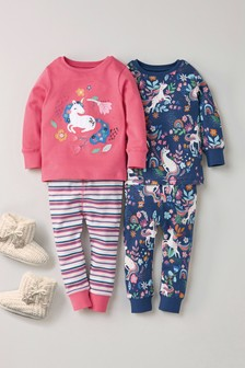 2 Pack Unicorn Snuggle Pyjamas (9mths-8yrs)